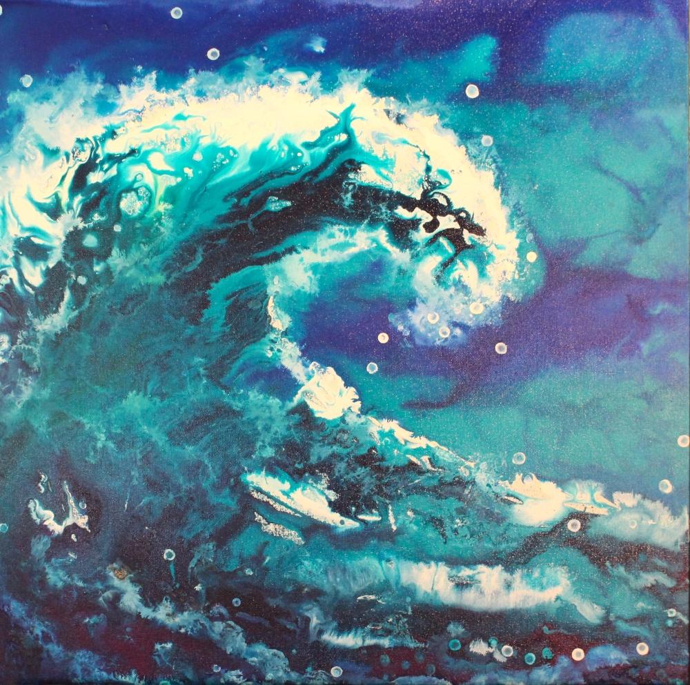 Painting ocean wave